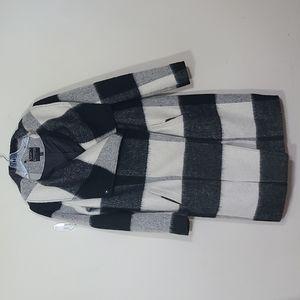 Express Plaid Herringbone Wool Blend Women Coat